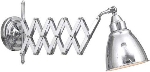 Accordion Wall Lamp, EXTENDABLE, CHROME