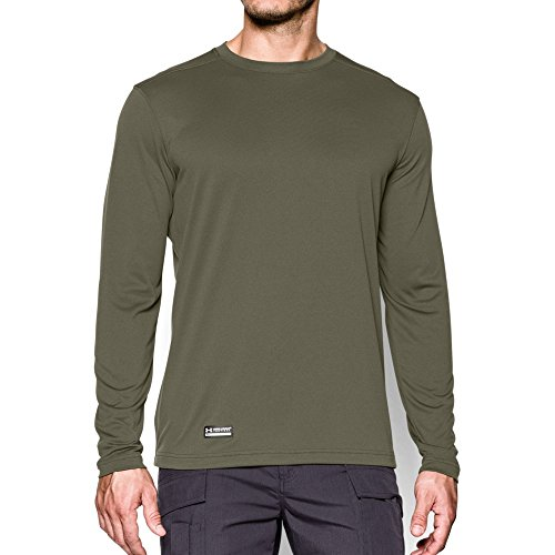 Under Armour Men's Tactical UA Tech Long Sleeve T-Shirt, Marine Od Green/None, Small