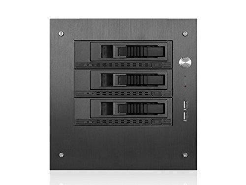 iStarUSA Case S-35-3M1BK Compact 3x3.5inch Hotswap Mini-ITX Tower Black Retail
