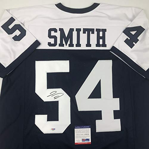 Autographed/Signed Jaylon Smith Dallas Thanksgiving Day Football Jersey PSA/DNA COA ()