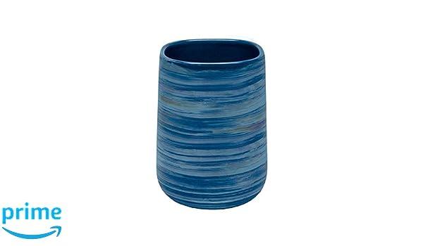 Color Azul Kleine Wolke Crackle polirresina Vaso para cepillos de Dientes