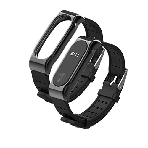 Kanzd Durable Replacement Silicom Waterproof Anti Off Wristband Sports Bracelet For Xiaomi Mi Band 2  A