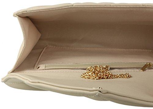 Girly Handbags - Cartera de mano de Material Sintético para mujer Beige