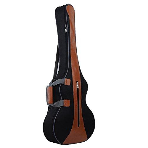 Gitarrentasche Gitarren-Bag Gig Bag mit Gitarrengurt gepolsterte Tasche für Akustik- und Klassikgitarren unter Größe 36