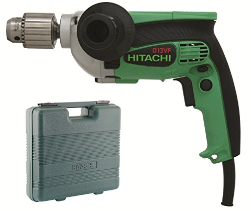 Hitachi D13VF 1/2-Inch 9-Amp Drill, EVS Reversible (Certified Refurbished)