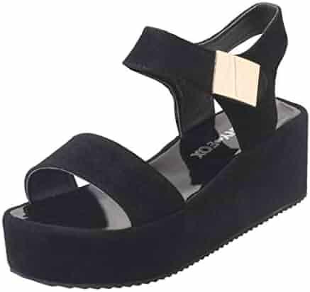 a27fc27cdd237 Shopping Hook & Loop - 9 - Black - Platforms & Wedges - Sandals ...