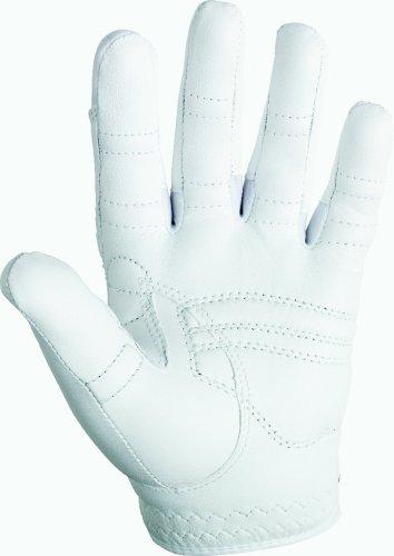 Bionic Women's Classic All White Golf Glove, Left Hand, Medium