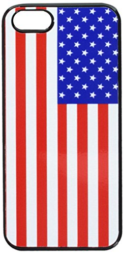 Graphics and More USA American Flag Snap-On Hard Protective Case for iPhone 5/5s - Non-Retail Packaging - Black