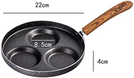 MissZZ Poêle à Oeufs, Plateau à Omelette à crêpes antiadhésif, 3/4 unités de Petit déjeuner Sandwich Pan en Alliage d'aluminium, 22/24/28 cm de diamètre