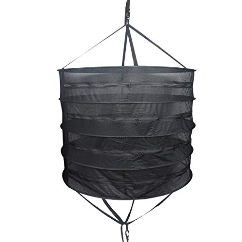 Growsun Herb Drying Rack 3-Ft 4-Layer Dry Net Mesh Hanging D