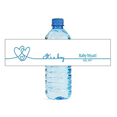 DesignThatSign 100 Its a Boy Baby Shower Water Bottle Labels Party Birthday: Toys & Games