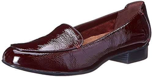 Burgundy Patent Footwear (Clarks Women's Keesha Luca Shoe, Burgundy Patent Leather, 9 M US)