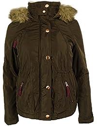 Women's Faux Fur Trim Hooded Parka