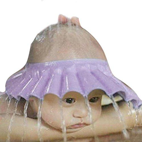 2018 Hot Sale! Kid Baby Boy Girl Shower Cap, Shampoo Bathing Bath Protect Adjust Soft Hat 0-6Y (Purple) ()