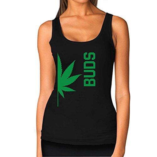 Best Weed Buddies Funny Best Friends Weed Day Gift Cool - Women's Tank Top Medium Black