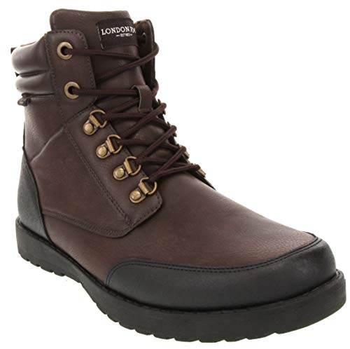 London Fog Mens Cambridge Cold Weather Snow Boot Brown 9