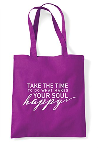 Statement Soul Your To Magenta Bag Shopper Tote What Do Time Take Makes Happy The FZTUwq6