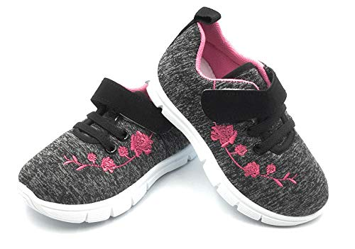 Bless Children Baby Toddlers Boy's Girl's Breathable Fashion Sneakers Walking Running Shoes,Black1207.Size 4 by Bless Children