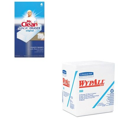 KITKIM34865PAG82027 - Value Kit - WypAll X60 Teri Reinforced Quarterfold Wipes (KIM34865) and Mr. Clean Magic Eraser Foam Pad (PAG82027)