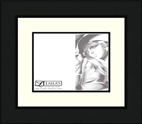 Amazoncom Lailas Photo Frame 8 By 10 Double Matted 251 Black
