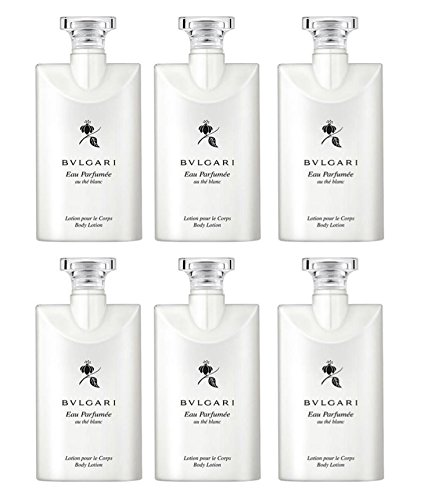 Bvlgari White Tea au the blanc Body Lotion Lot of 6 ea 2.5oz (0.15 Ounce Bottle)