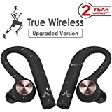 [Upgraded Version, from August 2018] Avantree IPX5 Sweatproof TWS Wireless Earbuds, True Wireless Stereo Bluetooth Headphones Cordless Earphones with Mic, Secure Fit for Sports