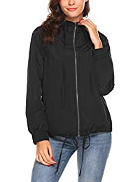 Women's Classic Look Raincoat Hooded Waterproof Jacket