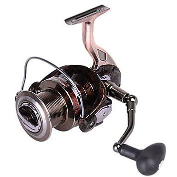 Carrete de TY Pesca Spinning 4.9:1 13 Rodamientos de Bolas ...