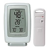 AcuRite 00611A3 Termómetro inalámbrico para interiores /exteriores y sensor de humedad