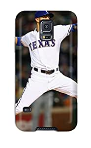 Premium Texas Rangers Back Cover Snap On Case For Galaxy S5