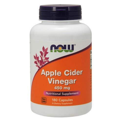 Now Foods - Apple Cider Vinegar 450 mg 180 Capsules (Pack of 3)