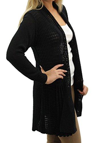 D'eau Fast Fashion Plaine Crocheter Manches Tricot Chute Cardigan Longues 00Oqwnrv