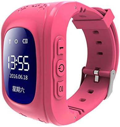 XZANTE Q50 OLED Ni?os GPS Seguidor Sos Posicionamiento para Ni?os GPS Reloj de Bebé Compatible Rosa