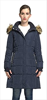 Orolay Women's Puffer Down Coat Winter Jacket with Faux Fur Trim Hood YRF8020Q