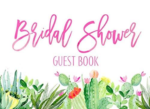 Bridal Shower Guest Book: Bridal Shower Guest Book Cactus Garden And Gift Log - Garden Guest Book