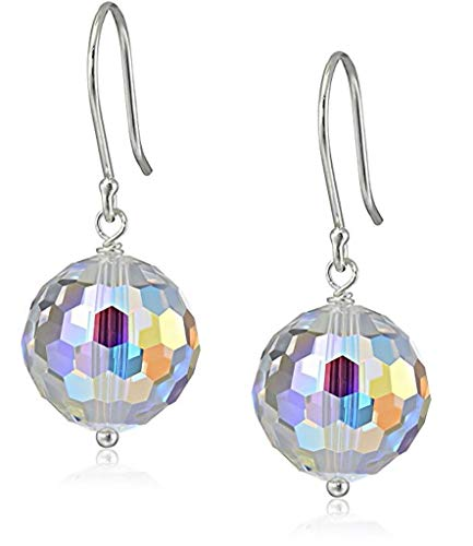 - Sterling Silver Dangle Earrings Sparkle Swarovski Crystal Drop Earrings Anniversary Birthday Mother's Gift SSE21
