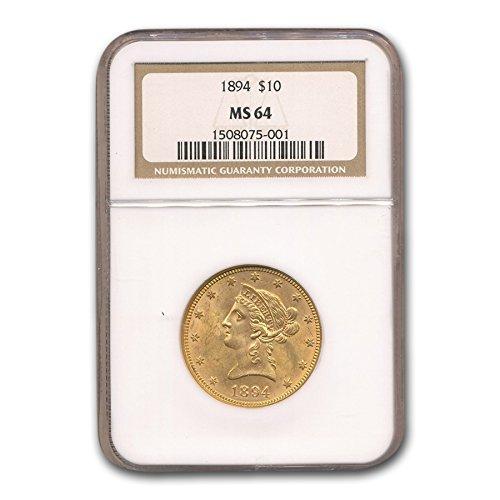 1894 $10 Liberty Gold Eagle MS-64 NGC G$10 MS-64 NGC