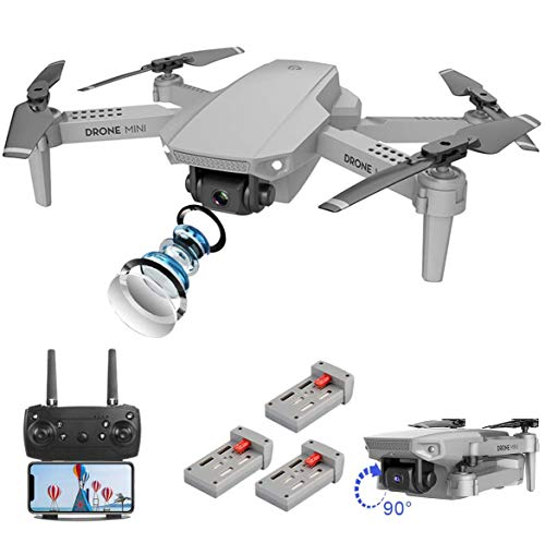 FPV WiFi Drone with 4K Camera Live Video 110° Wide-angle 4CH 6-Axis Gyro Foldable RC Drone W/Altitude Hold,APP Control…