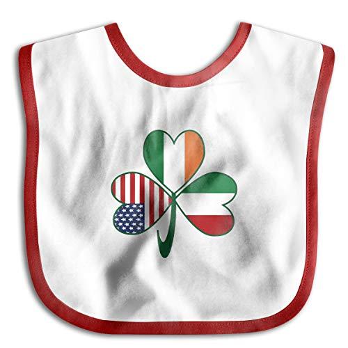 (Robprint Italian Irish American Shamrock Baby Girls Burp Cloths For Drooling And)