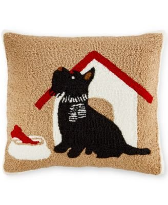Amazon Martha Stewart Collection SCOTTIE YarnPiled 40x40 Unique Martha Stewart Collection Bedding Dogs Decorative Pillows