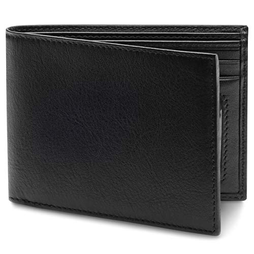 Bosca Men's Nappa Vitello Collection-Executive ID Wallet, Black, One Size (Best Handbags In The World)