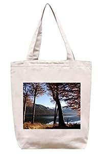 Montaña árbol de Lake–algodón Canvas Tote Bag