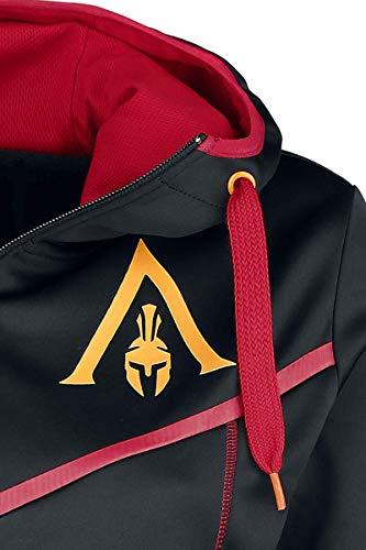 donna donna rojo Odyssey Assassin's da Negro di tecnico cappuccio Felpa da Nero con Creed Felpa Dark qZ745xx
