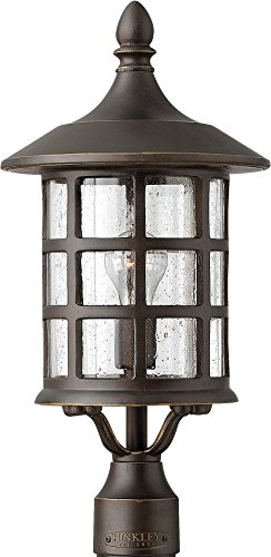 Hinkley 1801OZ Traditional One Light Post Top/ Pier Mount from Freeport collection in Bronze/Darkfinish,