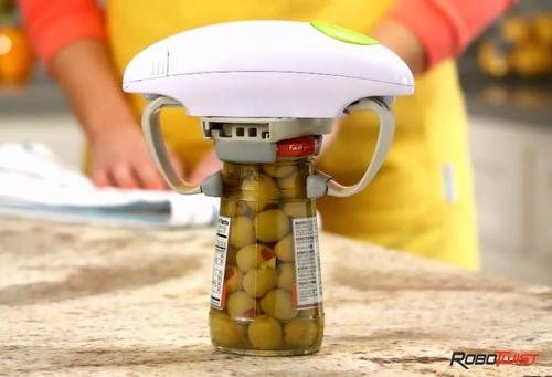 Super Handy Must Have Kitchen Gadget Strong TOUGH Robo Twist Automatic Jar Opener Powerful Enough For New Factory Sealed Jars