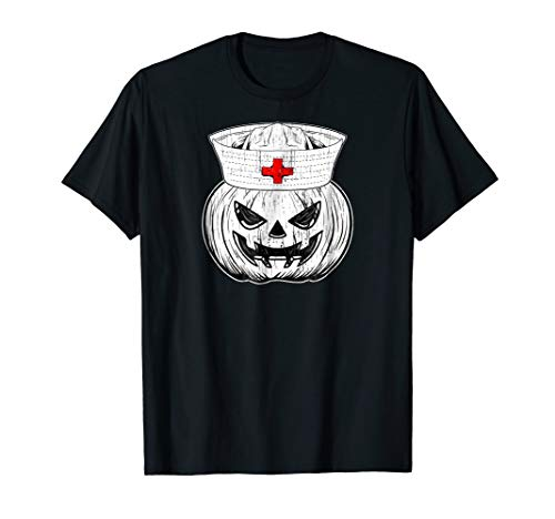 Halloween Nursing Shirt Scary Pumpkin Hospital Night Party]()