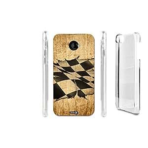 FUNDA CARCASA EFECTO MADERA BANDIERA START PARA HTC DESIRE 601