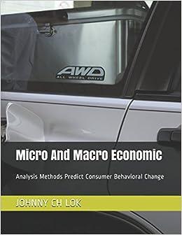 JOHNNY CH LOK - Micro And Macro Economic: Analysis Methods Predict Consumer Behavioral Change