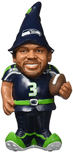 NFL Seattle Seahawks Russell Wilson #3 Resin Player Gnome, 8