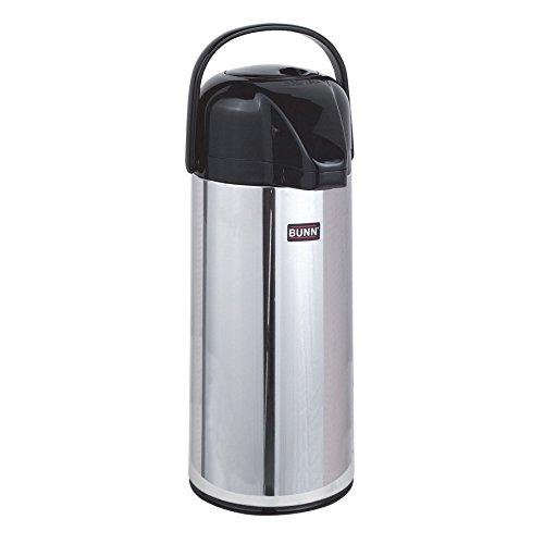 - Bunn 28696.0006 Zojirushi 2.2 Liter Glass Lined Push Button Airpot